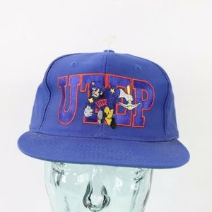 Vintage New UTEP Texas El Paso Spell Out Hat Blue